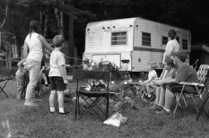 No we don't camp in that camper, its just belongs to the land we borrowed.