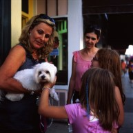 The Lady was talking to me about my camera, however her dog got just as much attention.
