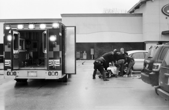 Team Work. With Ferrysburg Police, Fire Department, Pro Med., and The Mysterious Stranger.