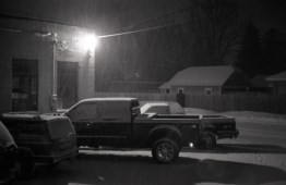 Another Michigan night in winter.