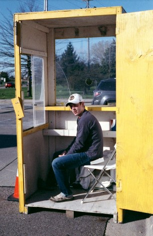 Tyler in the parking booth