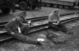 WWII Solders Eating Lunch
