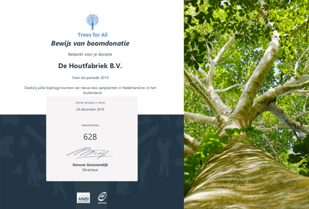 Trees for all certificaat