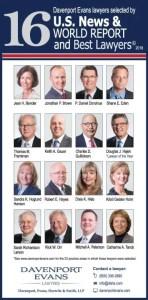 Davenport Evans Best Lawyers 2018