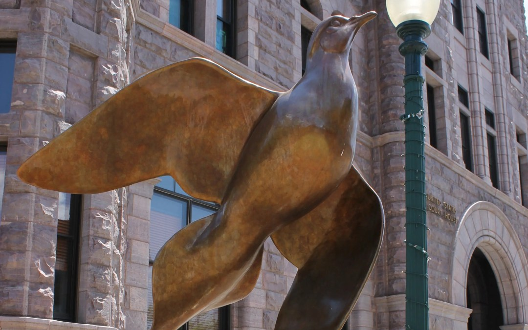 Sioux Falls SculptureWalk Dove Spirit Sponsored by Davenport Evans