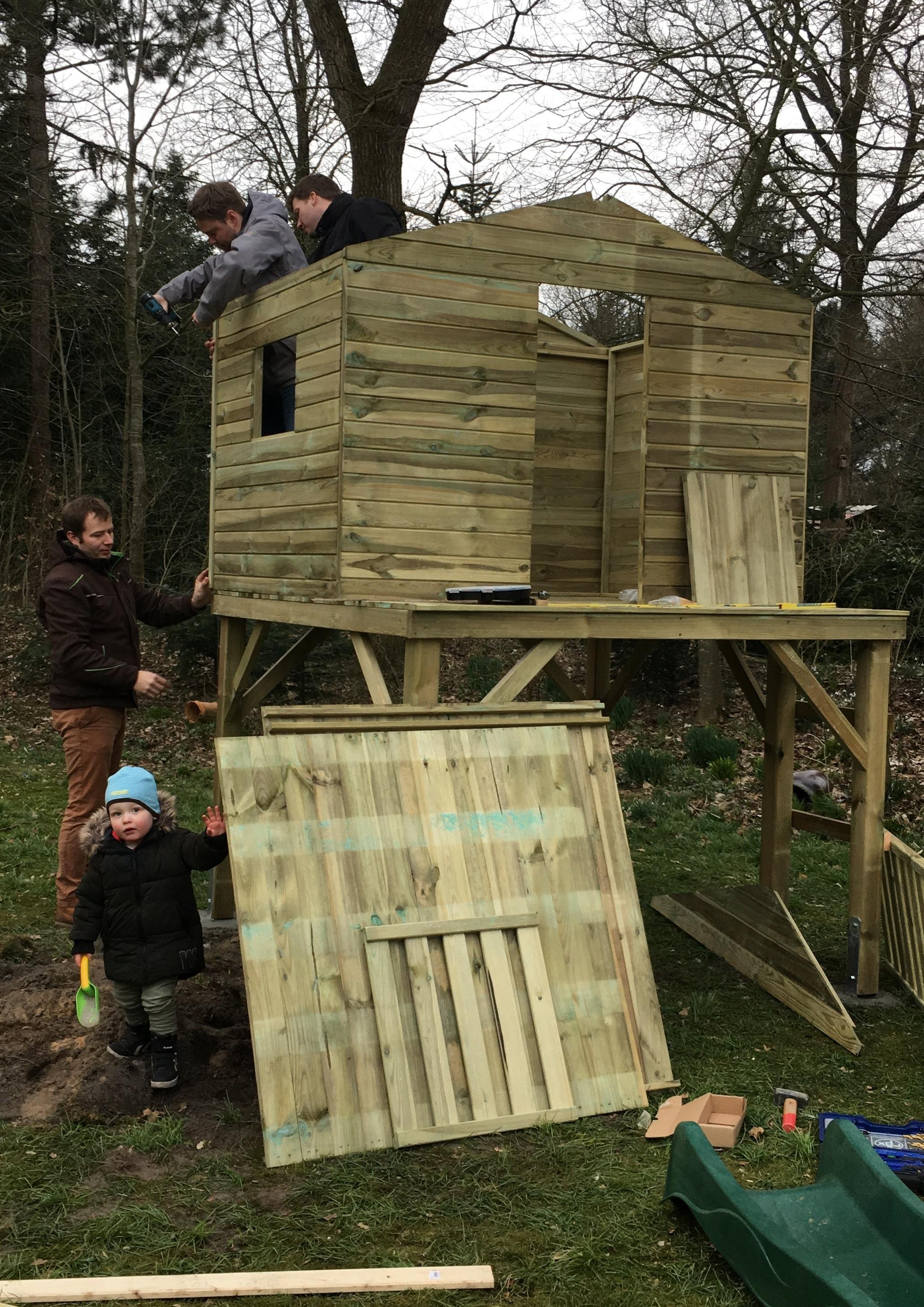 Aufbau Stelzenhaus