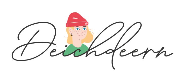 Logo, Deichdeern, Mütze rot, Anker,