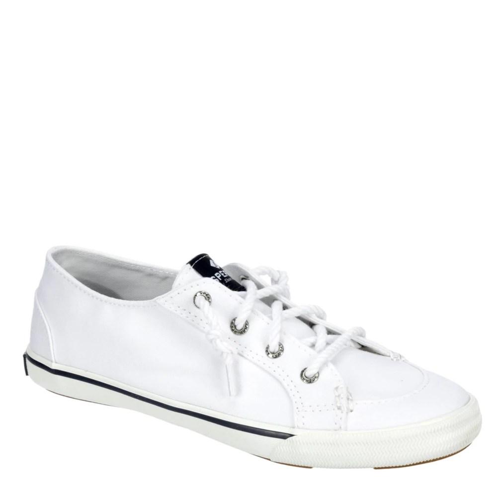 white sperry womens lounge ltt slip on sneaker