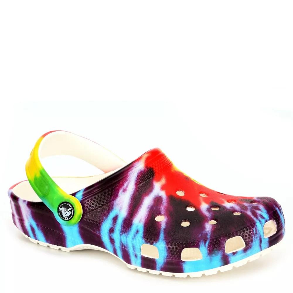 multicolor crocs unisex classic clog