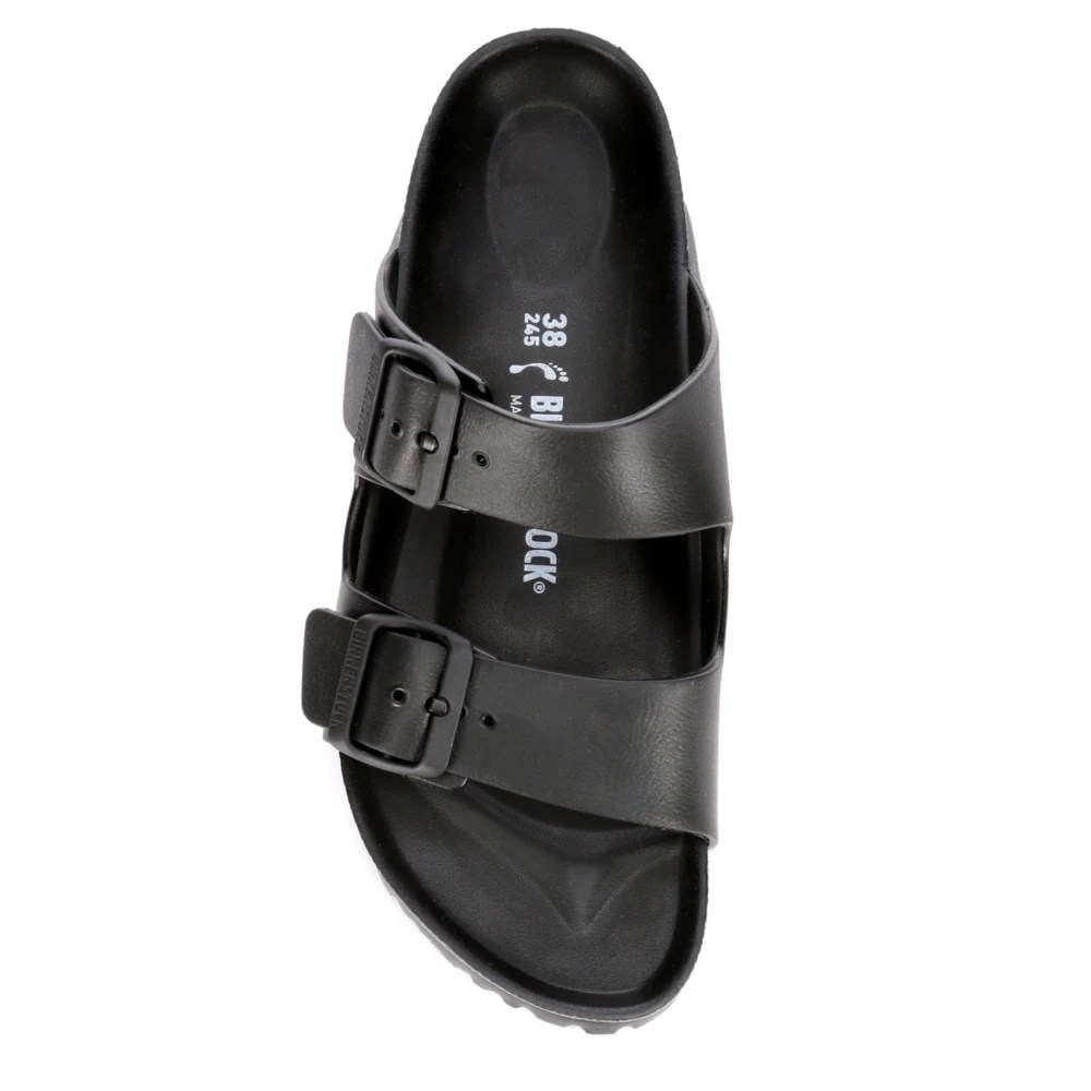 birkenstock womens arizona essentials slide sandal black