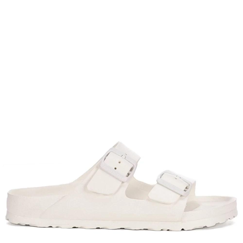 birkenstock womens arizona essentials slide sandal white