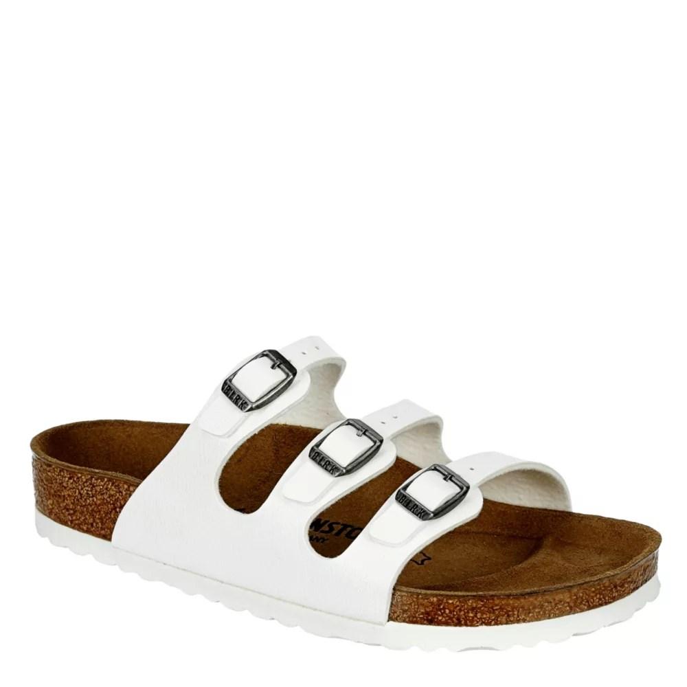 white birkenstock womens florida footbed sandal