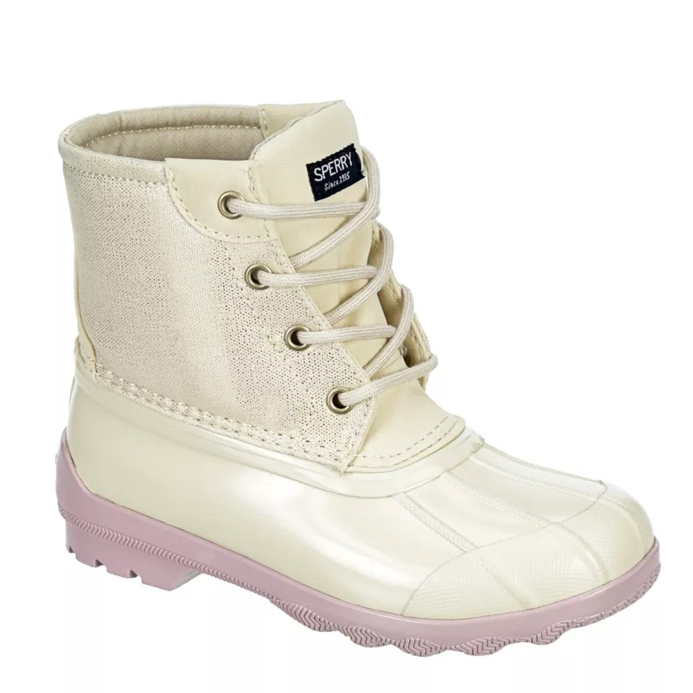 ivory sperry girls port boot rain boot