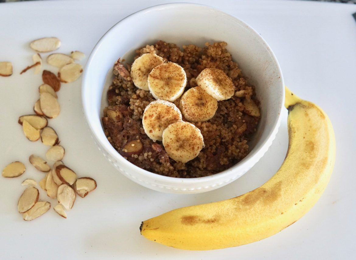 banana bread quinoa, deidra mangus, healthy breakfast recipes, weight loss journey, healthy new mom, online fitness coach, beachbody coach PA, healthy military family, army wife