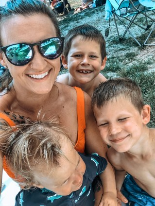 Mommy and boys pool 2019