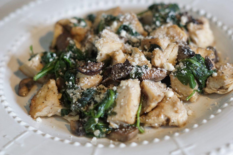 Deidra Mangus, portobello mushrooms, spinach, chicken recipes, healthy chicken dinners parmesan, low carb dinners