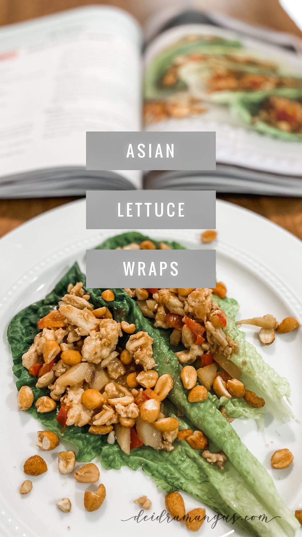 Deidra Mangus, Asian lettuce wraps, healthy lettuce wraps, peanut sauce, thai recipes, healthy appetizer recipes, healthy lunch recipes, forever fit cookbook, healthy cookbook and devotional, beachbody coach and author of cookbook