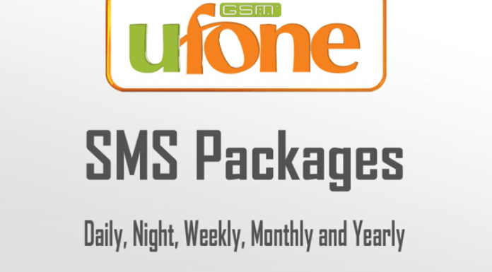 Ufone Monthly SMS Packages Ufone Weekly SMS Packages