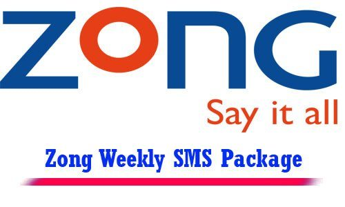 zong weekly sms package
