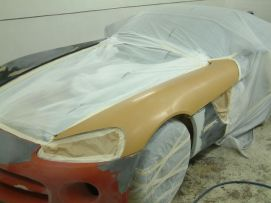 Dodge Viper Cabrio Unfall