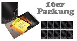 10er Maxi Sparpack Leitz 45680095 Ablagebox Bebop Ablagebox Bebop, A4, PP, 30mm, schwarz -