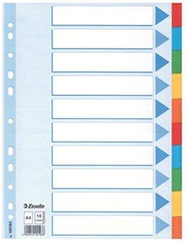 10er Pack Leitz Kartonregister (Standard Blanko, A4, Karton) 10 Blatt weiss -