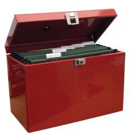 Ablagebox / Hängemappenbox (aus Metall, A4) rot -