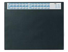 Durable 720401 Schreibunterlage (mit Vollsichtplatte und Kalender, 650 x 520 mm) 1 Stück, schwarz -