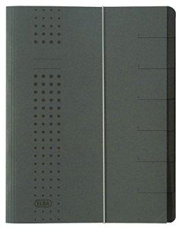 """Elba 400001999 Ordnungsmappe """"chic"""", aus 450 g/m² Karton, A4, 7 Fächer, anthrazit -"""