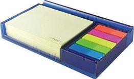 Exerz EX309 O-Life Notizhalter - Beinhaltet 200 x Klebezettel, 5 x Set farbiger Indexstreifen - Blau -