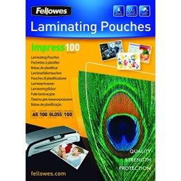 Fellowes 53510 Laminierfolien Impress 100 Mikron, DIN A5 (100er Pack) -