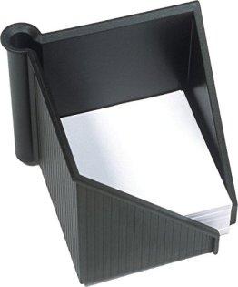 Helit Zettelkasten / Stiftehalter Linear/H6304095 127x127x108mm schwarz -