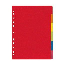 Herlitz 11078078 Register 6-teilig, A4, farbintensiver Manilakarton -
