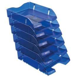 Herlitz 11247244 Ablagekorb A4-C4 space PET-Recylat (  6 Stück im Pack ) flaschenblau transluzent -