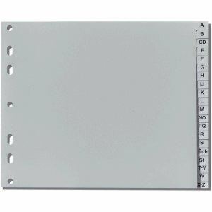 Herlitz Register 1/2 A4 A-Z Kunststoff PP 20-teilig grau -
