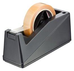 peha® Klebebandabroller stabil und schwer (1,35kg) für Ø25mm & Ø76mm Rollen (schwarz) -