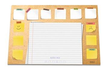 Schreibtischunterlage GUTE LAUNE aus Papier | DIN A3 groß (42 x 29,7 cm) | 25 Blatt Schreibunterlage zum Abreißen | Klimaneutraler Druck aus Deutschland | Ideale Papierunterlage für den heimischen Schreibtisch oder fürs Büro | Für Kinder und Erwachsene -