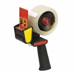 Scotch Handabroller H-180 für Verpackungsklebeband, 50 mm x 66 m, schwarz/rot -
