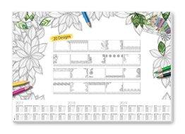 Sigel HO540 Papier-Schreibunterlage mit 20 verschiedenen Blättern zum Ausmalen und 3-Jahres-Kalender, 59,5 x 41 cm -