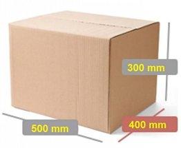 ® 10 Kartons Braun Einwellige 500x400x300mm Qualität: 1.20 B Welle, 410 g/m2 -