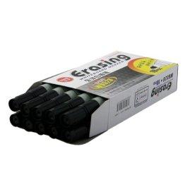 2-TECH Whiteboard Marker: 10 schwarze Stifte nachfüllbar leicht zu entfernen, deutliche Schrift -
