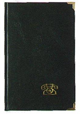 Adress-u. Telefonbuch mit 2 Messingecken -