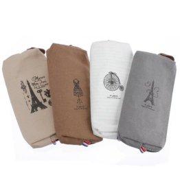 ANKEER Canvas Bag Pencil Case Paare Eiffel Tower Stiftart Schreibwaren Taschen -