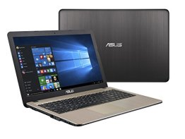 Asus F540SA-XX073T 39,60 cm (15,6 Zoll HD Glare Type) Notebook (Intel Celeron N3050, 4GB RAM, 500GB Festplatte, Intel HD-Grafik, DVD, Win 10 Home) braun -