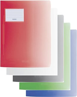 Baier & Schneider Schnellhefter FACT! Colour Code, Kunststoff, 240 x 313 mm (5er Pack, Mens Edition) -