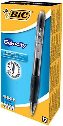 BIC Druck-Gelroller Gel-ocity Gel, 0,35 mm, nachfüllbar, Schachtel à 12 Stück, schwarz -