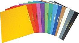 Brunnen Schnellhefter Pappe extrastark - GROßPACK bunt - 13 Stück bzw. Farben im Pack - für Schule, Job, Büro und zu Hause -