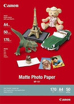 Canon MP-101, A4 Fotopapier matt (170 g/qm), A4, 50 Blatt -