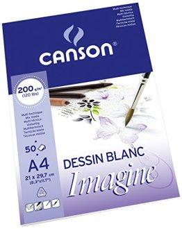 Canson 200006008 Imagine Mix-Media Papier, A4, rein weiß -