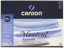 Canson 200807319 Montval Aquarellpapier, 24 x 32 cm, naturweiß -